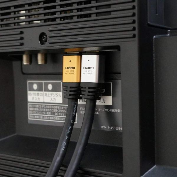 HORIC ハイスピードHDMIケーブル 15m AWG24 ゴールド 4K/60p HDR 3D HEC ARC リンク機能 HDM150