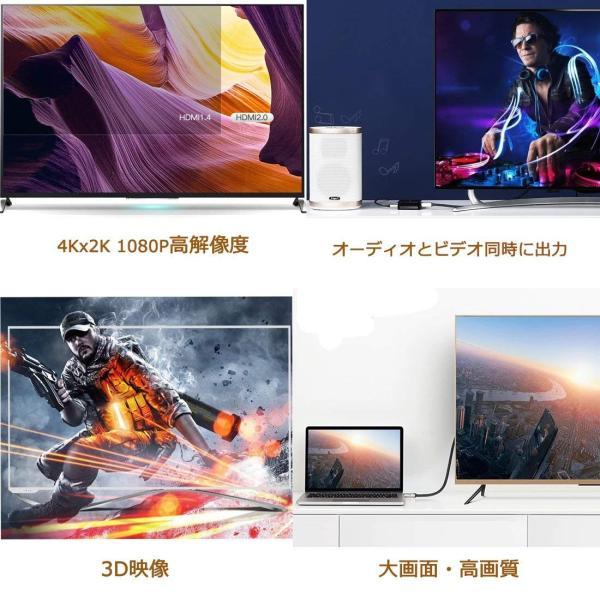 HDMI ケーブル 3M ハイスピード 4K 亜鉛ダイキャストヘッド HDMIコネクター イーサネットKitimer 高耐久性 HDR AR