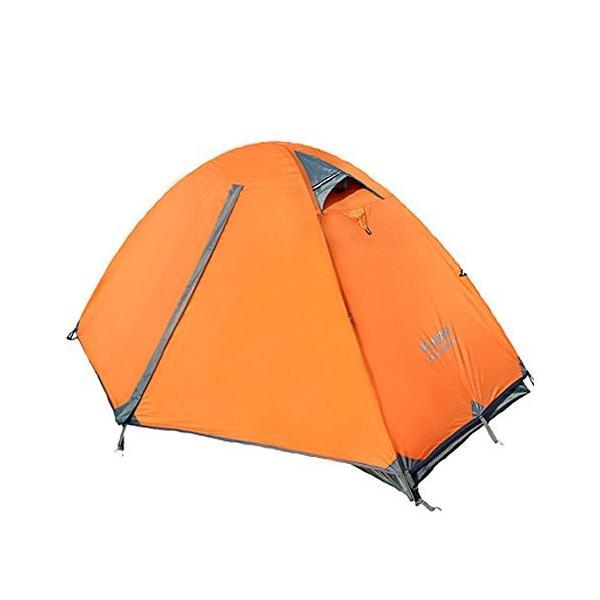 Kazumiya テント 一人用 二重層 超軽量 4シーズン 防風防水 uvカット メッシュ 通気 設営簡単 防災用 アウトドア用品 キャン|shop-frontier