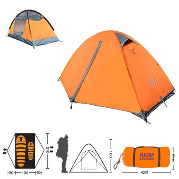 Kazumiya テント 一人用 二重層 超軽量 4シーズン 防風防水 uvカット メッシュ 通気 設営簡単 防災用 アウトドア用品 キャン|shop-frontier|06