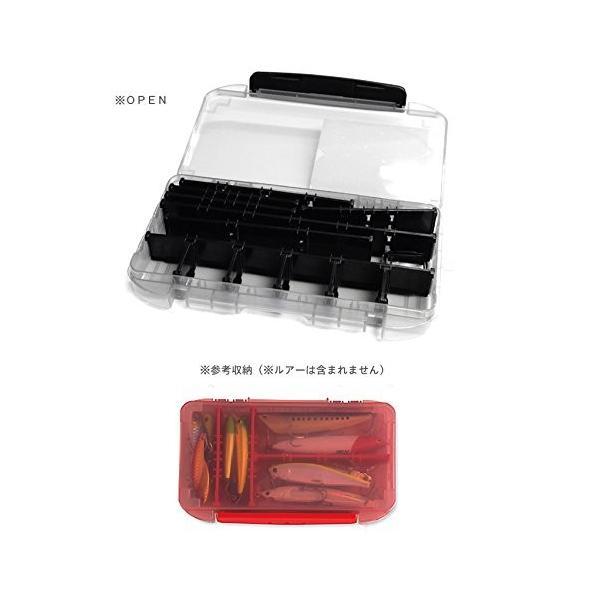 YFD(山田化学) YFD タフケースL212 浅型 NO.8036 クリアレッド