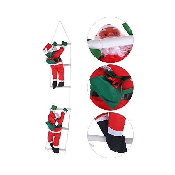 はしごサンタクロース2人 クリスマス装飾 クリスマスツリーハンギング 装飾 吊り飾り 窓 ドア 人形 クリスマスデコレーション ドア オーナ shop-frontier 03
