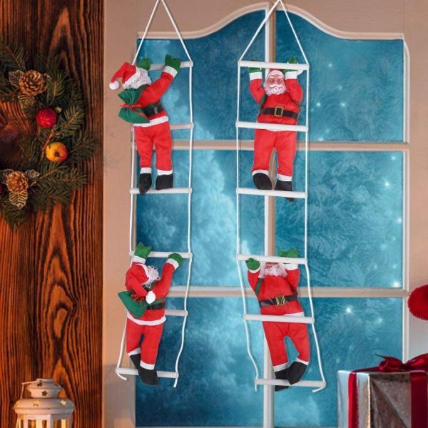 はしごサンタクロース2人 クリスマス装飾 クリスマスツリーハンギング 装飾 吊り飾り 窓 ドア 人形 クリスマスデコレーション ドア オーナ shop-frontier 05