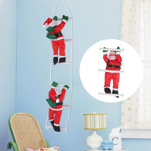 はしごサンタクロース2人 クリスマス装飾 クリスマスツリーハンギング 装飾 吊り飾り 窓 ドア 人形 クリスマスデコレーション ドア オーナ shop-frontier 06