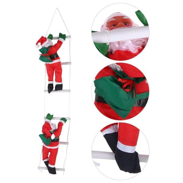 はしごサンタクロース2人 クリスマス装飾 クリスマスツリーハンギング 装飾 吊り飾り 窓 ドア 人形 クリスマスデコレーション ドア オーナ shop-frontier 08