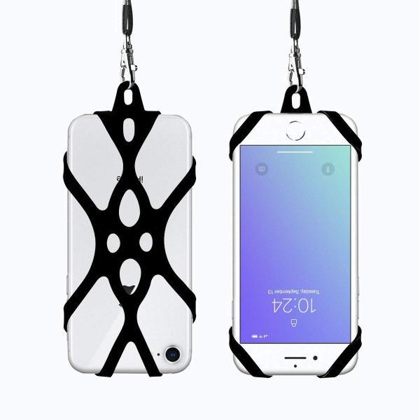 ROCONTRIP スマホのストラップ 4.7-6.0インチのスマホケース 汎用 柔らかい 携帯型 ユニーク シリコンゴムケース(ブラック) shop-frontier 05