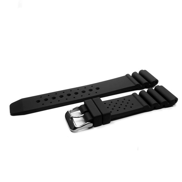 IVAPPONアイーヴァポン 黒 18mm/20mm/22mm シリコンラバー シンプル 時計バンド 腕時計ベルトダイビング アウトドア ス
