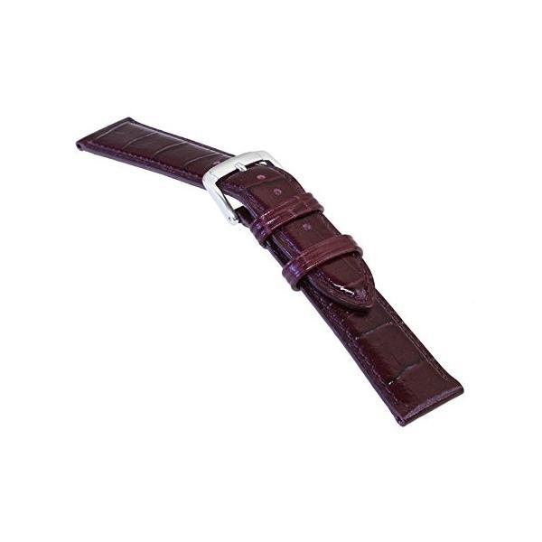 バンビBAMBI 時計バンド 牛革 スコッチガード ワイン 22mm BKM052EU