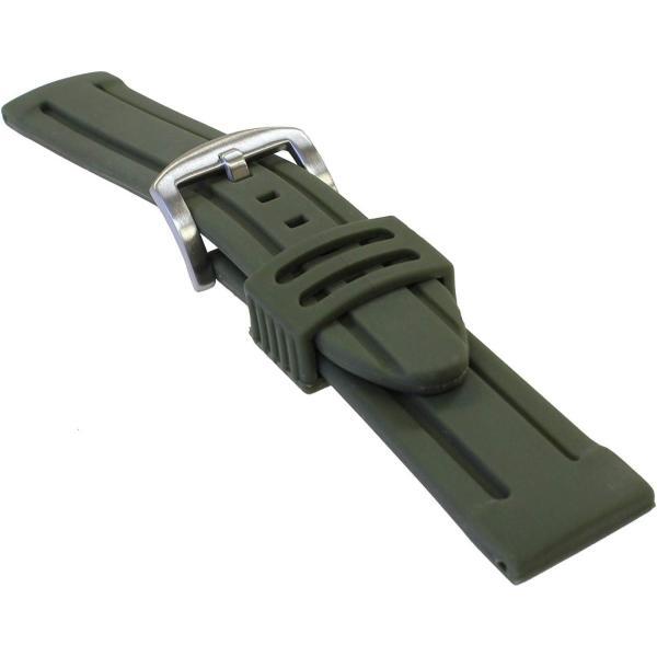 バンビBAMBI 時計バンド シリコンラバー アーミー 24mm BG007Q-W