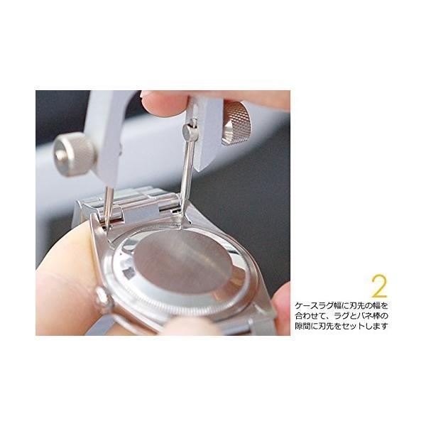 ベルジョン BERGEON 時計 ベルト交換工具 両つかみ式バネ棒外し 汎用替先2本セット BE6825 正規輸入品|shop-frontier|05