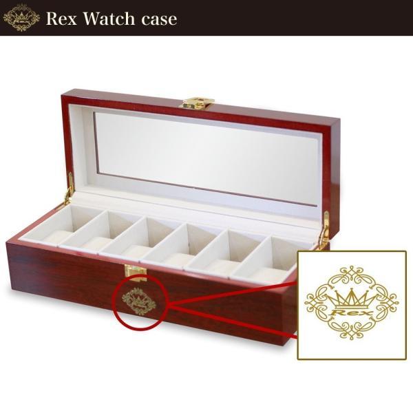 REX高級時計 腕時計ケース 大容量 6本 収納 木製 ピアノ調 ケース ボックス ディスプレイ ウォッチ 収納 オシャレ アクセサリーに