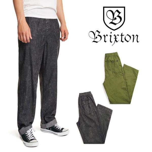 【5%還元】ブリクストン パンツ BRIXTON [ STEADY ELASTIC WAISTBAND PANT ] イージーパンツ [0304]|shop-hood