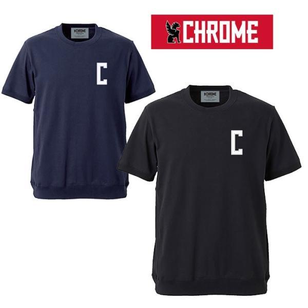 【5%還元】Chrome クローム Tシャツ スウェット 半袖 [ JP086 ] SUPER HEAVY WEIGHT RIB SHORT TEE 半袖Tシャツ [メール便]|shop-hood