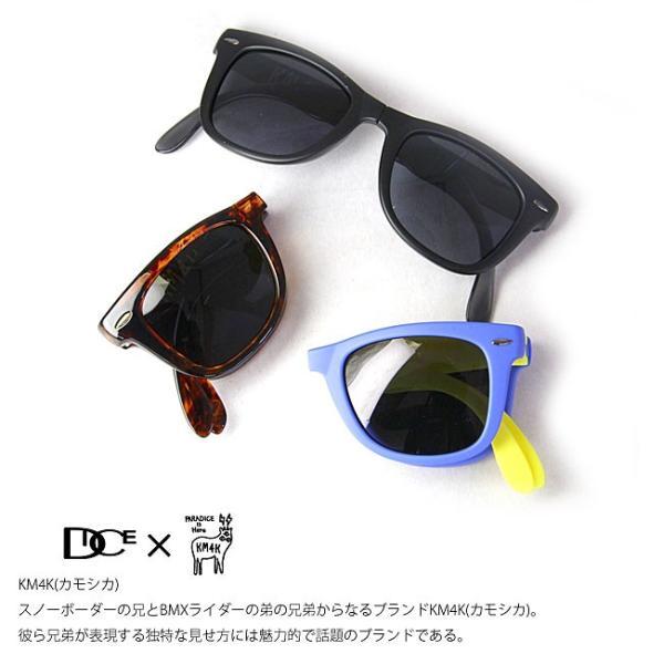 サングラス カモシカ ダイス DICE × KM4K [ PDG-01 ] KM4K  (BRBK) sunglass [0901] shop-hood 03
