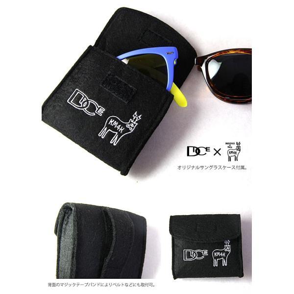 サングラス カモシカ ダイス DICE × KM4K [ PDG-01 ] KM4K  (BRBK) sunglass [0901] shop-hood 04
