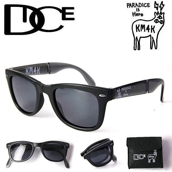 偏光サングラス メンズ ダイス DICE × KM4K MatteBLACK サングラス スノーボードgoggle スノボー PDG-01 カモシカ|shop-hood
