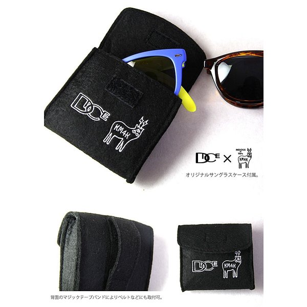 偏光サングラス メンズ ダイス DICE × KM4K MatteBLACK サングラス スノーボードgoggle スノボー PDG-01 カモシカ|shop-hood|04