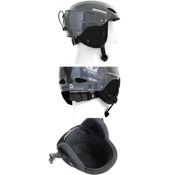 スワンズ ヘルメット 当店限定マットブラック M.BLK スキー スノーボード SWANS H-45R プロテクター  helmet|shop-hood|08