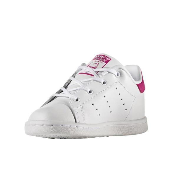 子ども用 アディダス adidas オリジナルス スタンスミス キッズ スニーカー レザー シューズ 靴 ホワイト ピンク originals STAN SMITH I KIDS BB2999|shop-kandj|02