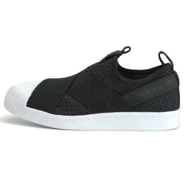 アディダス adidas オリジナルス スーパースタースリッポン レディース メンズ スニーカー 黒 白 ブラック ホワイト Originals SUPERSTAR SLIPON CQ2487|shop-kandj|02