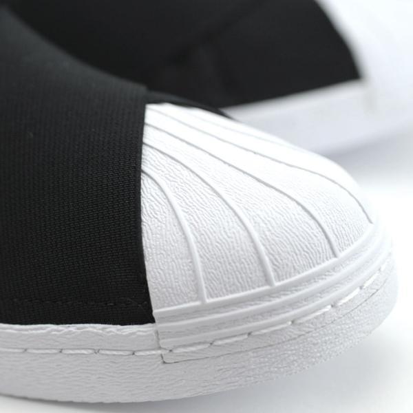 アディダス adidas オリジナルス スーパースタースリッポン レディース メンズ スニーカー 黒 白 ブラック ホワイト Originals SUPERSTAR SLIPON CQ2487|shop-kandj|03