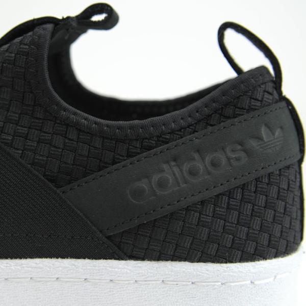アディダス adidas オリジナルス スーパースタースリッポン レディース メンズ スニーカー 黒 白 ブラック ホワイト Originals SUPERSTAR SLIPON CQ2487|shop-kandj|05