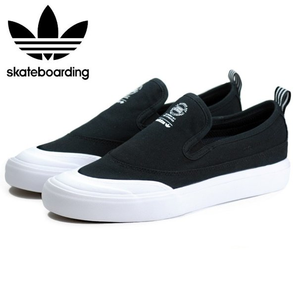 アディダス adidas スケートボーディング マッチコート スリップ スリッポン スニーカー メンズ ブラック 黒 SKATEBOARDING MATCHCOURT SLIP BLACK F37387 shop-kandj