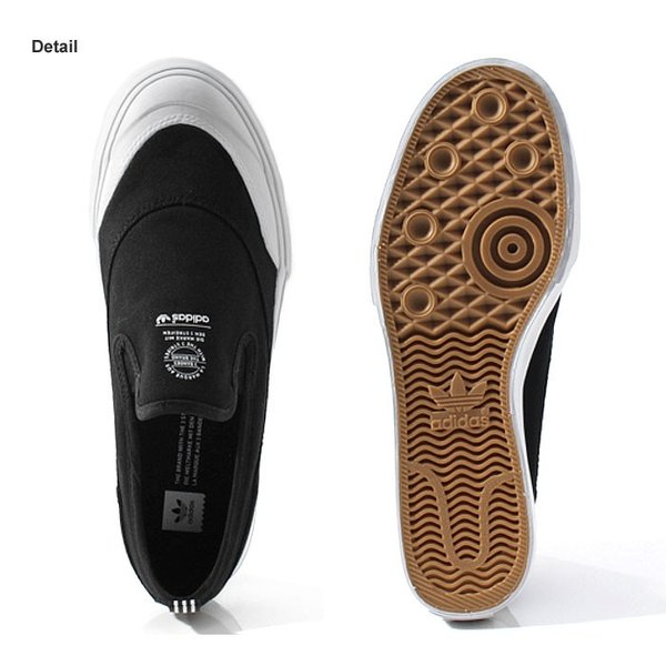 アディダス adidas スケートボーディング マッチコート スリップ スリッポン スニーカー メンズ ブラック 黒 SKATEBOARDING MATCHCOURT SLIP BLACK F37387 shop-kandj 02