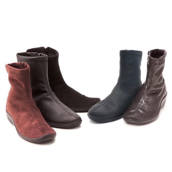 アルコペディコ ARCOPEDICO L'ライン L8(ショートブーツ) レディース ブラック ブラウン 靴 おしゃれ コンフォート SHORT BOOTS 5061270 ローヒール カジュアル