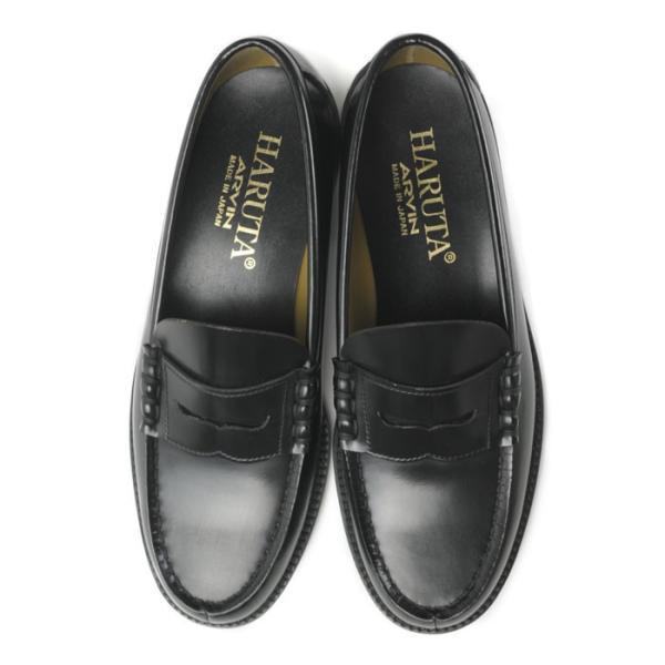 ハルタ HARUTA ローファー メンズ 6550 通学 学生 靴 3E 男子 定番 黒 茶 合皮 雨に強い 丈夫 疲れにくい 国産 日本製|shop-kandj|04