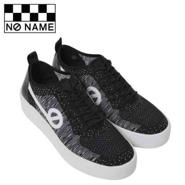ノーネーム スニーカー ジャバ NO NAME JAVA-71518 レディース 黒 ブラック ニットスニーカー レザー フラットスニーカー シューズ 靴 shop-kandj