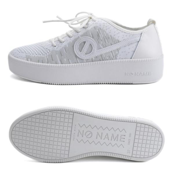 ノーネーム スニーカー ジャバ NO NAME JAVA-71518 レディース 白 ホワイト ニットスニーカー レザー フラットスニーカー シューズ 靴|shop-kandj|02