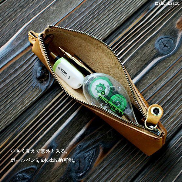 ペンケース レディース 本革 alto. オイルレザー ヌメ革 筆箱 AMSW-0064|shop-kazzu|03