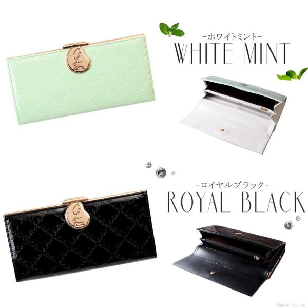 財布 長財布 レディース ブランド 大容量 がま口 エナメル フラップ かぶせ ロングウォレット Clelia CL-15610|shop-kazzu|17