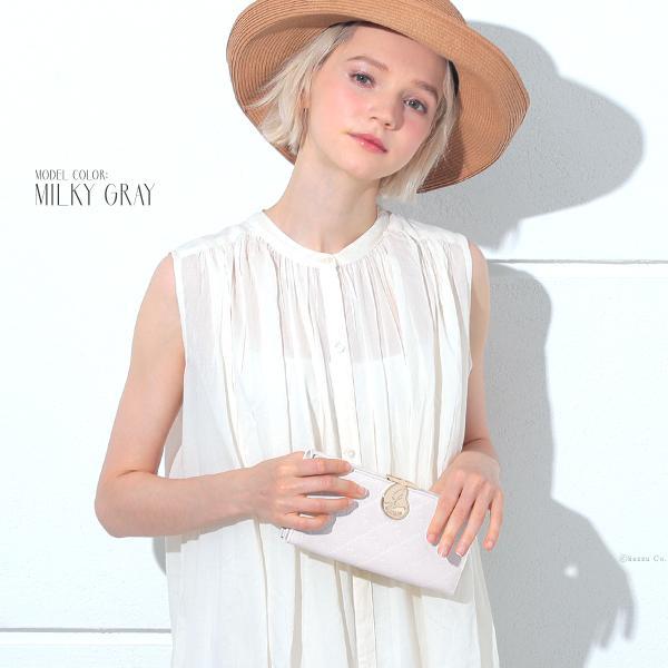 財布 長財布 レディース がま口 大容量 ブランド エナメル フラップ がま口長財布 Clelia CL-15610|shop-kazzu|07
