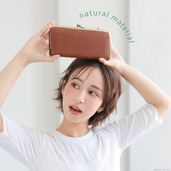 財布 長財布 レディース がま口 本革 薄い ギャルソンウォレット 日本製 がま口財布 nafka NFK-72001|shop-kazzu|02
