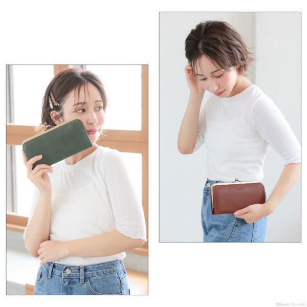 財布 長財布 レディース がま口 本革 薄い ギャルソンウォレット 日本製 がま口財布 nafka NFK-72001|shop-kazzu|03