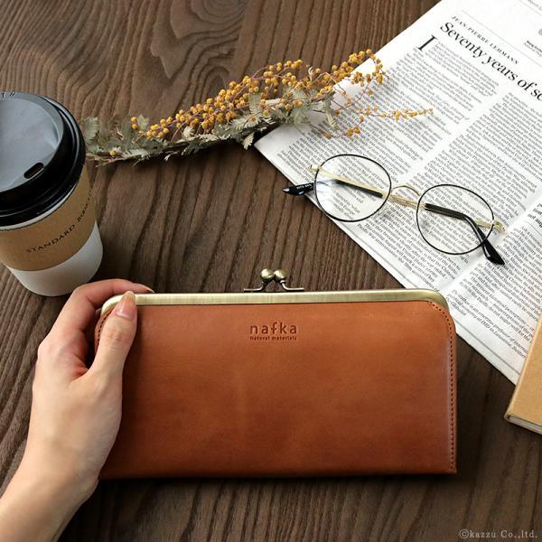財布 長財布 レディース がま口 本革 薄い ギャルソンウォレット 日本製 がま口財布 nafka NFK-72001|shop-kazzu|04