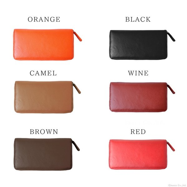 財布 レディース 長財布 本革 使いやすい財布 革財布 羊革 ラウンドファスナー E-031 shop-kazzu 04