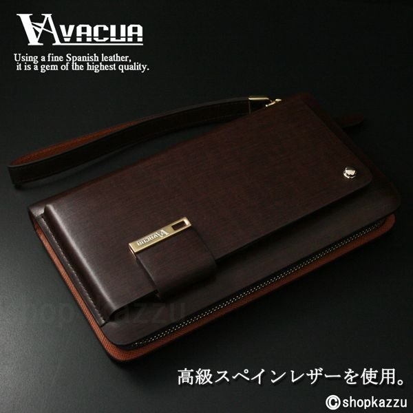 長財布 メンズ VACUA-ヴァキュア- スペインレザー 牛革 多機能 ラウンド財布