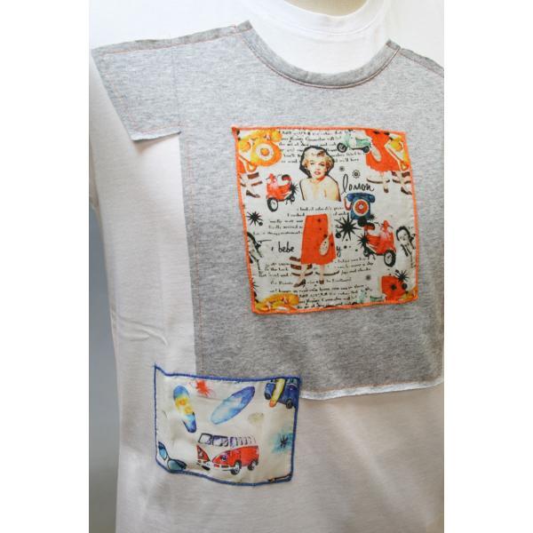 BOBボブのパッチワークTシャツ(イタリー製) shop-kinkodo 02