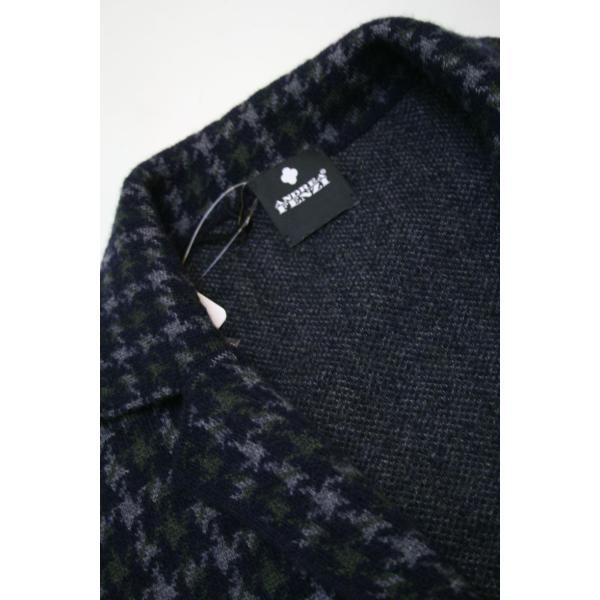 アンドレア フェンツィ【ANDREA FENZI】ハウンドトゥースのニットジャケット|shop-kinkodo|04