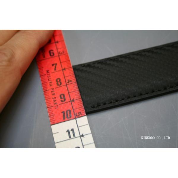 カーボンコーティング・リバーシブル(ブラウン・ブラック)ベルトのみバックル無し巾3センチ120センチ|shop-kinkodo|07