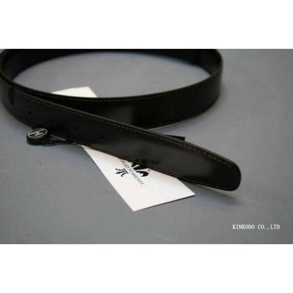 カーボンコーティング・リバーシブル(ブラウン・ブラック)ベルトのみバックル無し巾3センチ120センチ|shop-kinkodo|08
