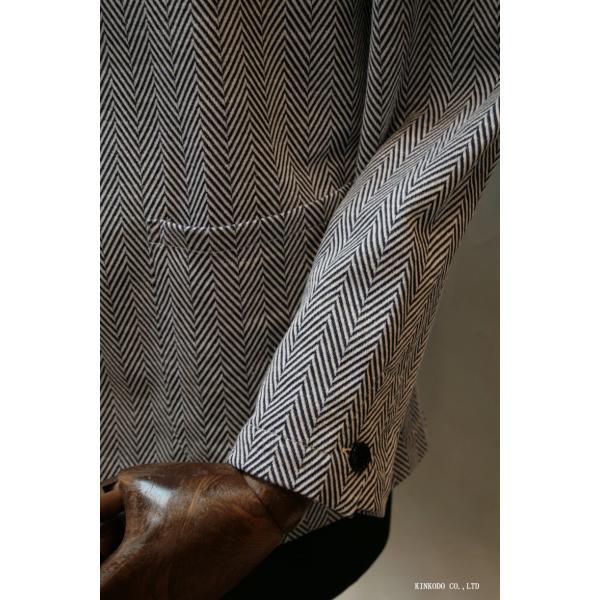 ナチュラルストレッチのギ・ローバー社ヘリンボーンコットンジャケット。Guy Rover イタリー|shop-kinkodo|07