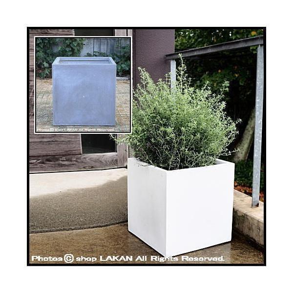 キューブW60cm バスク・ファイバークレイ樹脂製正角型植木鉢 / ガーデンアーツ社 GA0160
