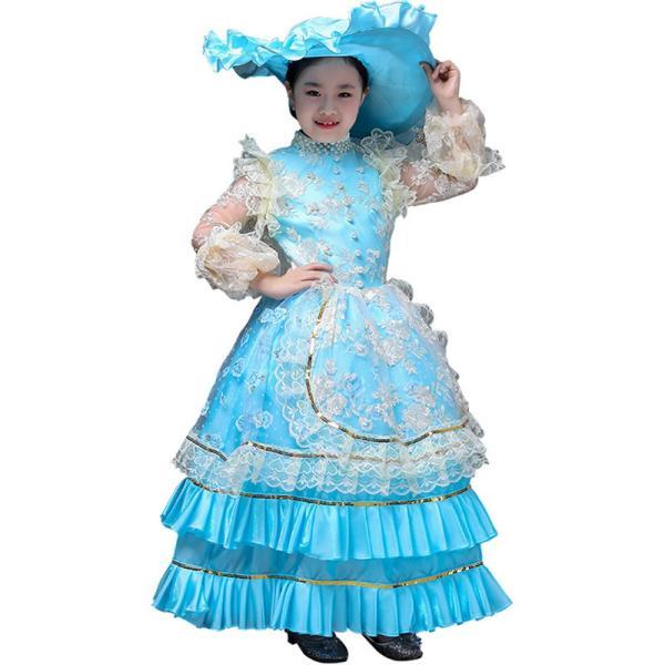 キッズ 子供服 ワンピース 演奏会ドレス 司会 劇場 ステージ 衣装としても最適 人気お姫様ドレス 公爵夫人 貴族服ドレス ドレス 中世 貴族|shop-manten|11