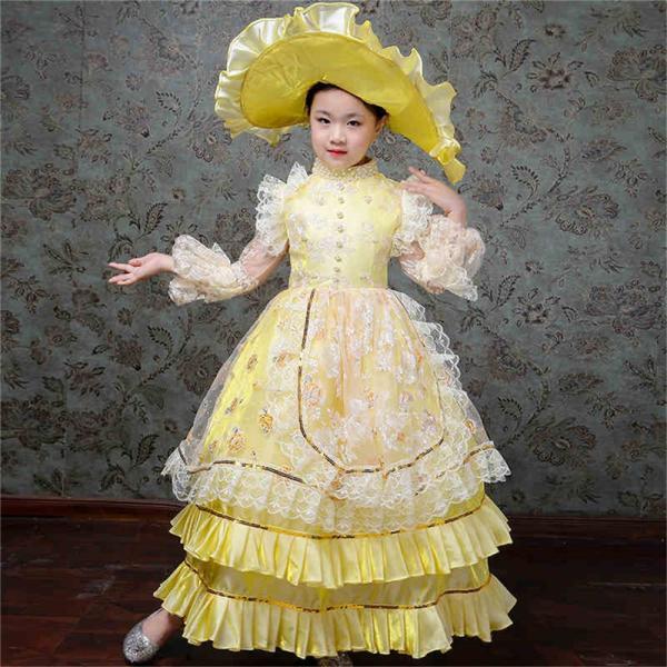 キッズ 子供服 ワンピース 演奏会ドレス 司会 劇場 ステージ 衣装としても最適 人気お姫様ドレス 公爵夫人 貴族服ドレス ドレス 中世 貴族|shop-manten|14
