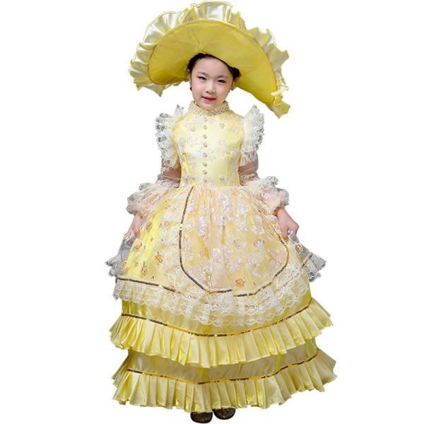 キッズ 子供服 ワンピース 演奏会ドレス 司会 劇場 ステージ 衣装としても最適 人気お姫様ドレス 公爵夫人 貴族服ドレス ドレス 中世 貴族|shop-manten|16