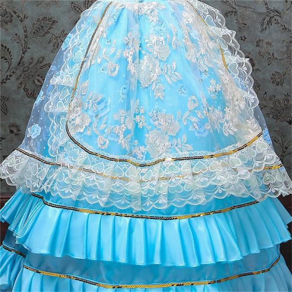 キッズ 子供服 ワンピース 演奏会ドレス 司会 劇場 ステージ 衣装としても最適 人気お姫様ドレス 公爵夫人 貴族服ドレス ドレス 中世 貴族|shop-manten|10